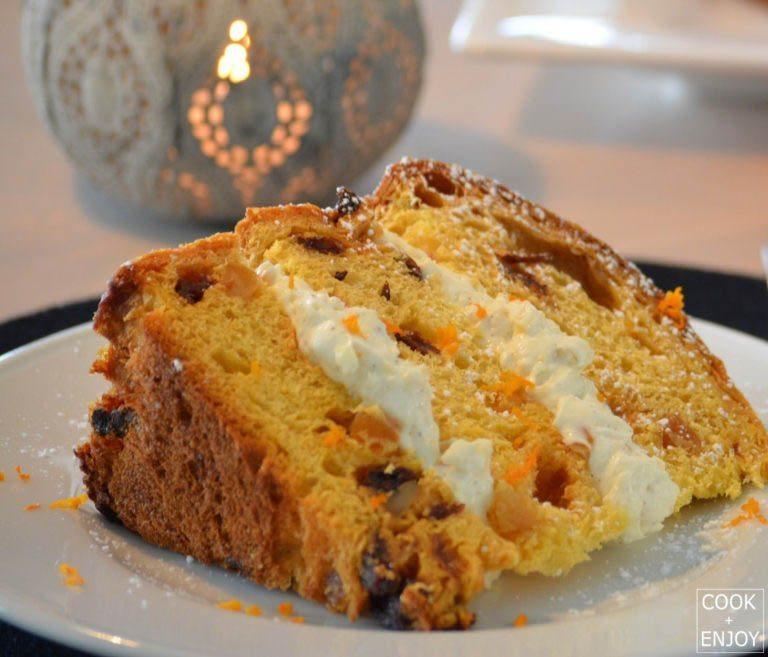 COOK and ENJOY Rezept Panettone mit Mascarponecreme-Füllung