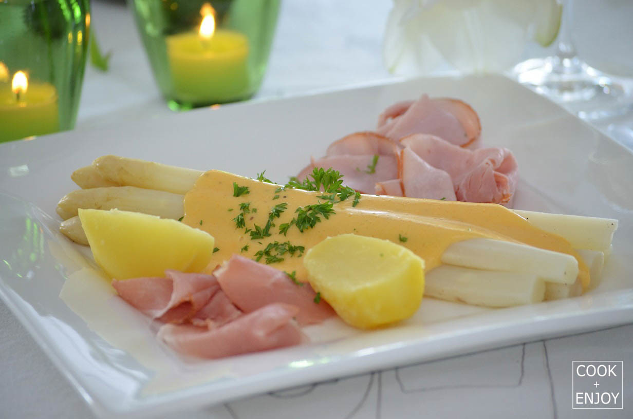 COOK and ENJOY Rezept Spargel mit Sauce Hollandaise