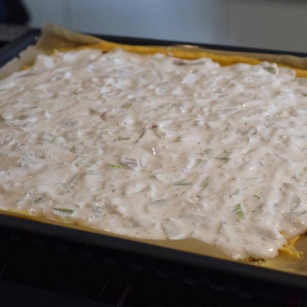 COOK and ENJOY Rezept Rhabarberkuchen mit Mandelbaiser