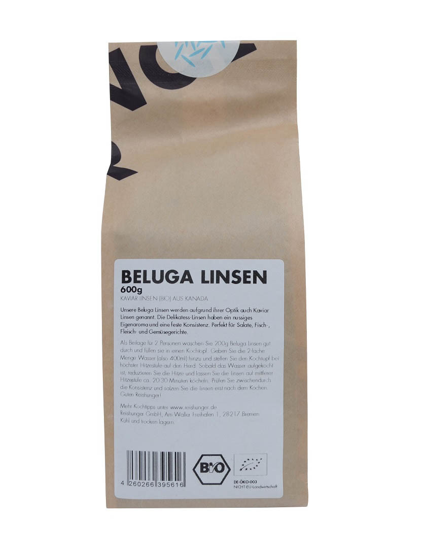 COOK and ENJOY Shop Beluga Linsen 600g Bio von Reishunger