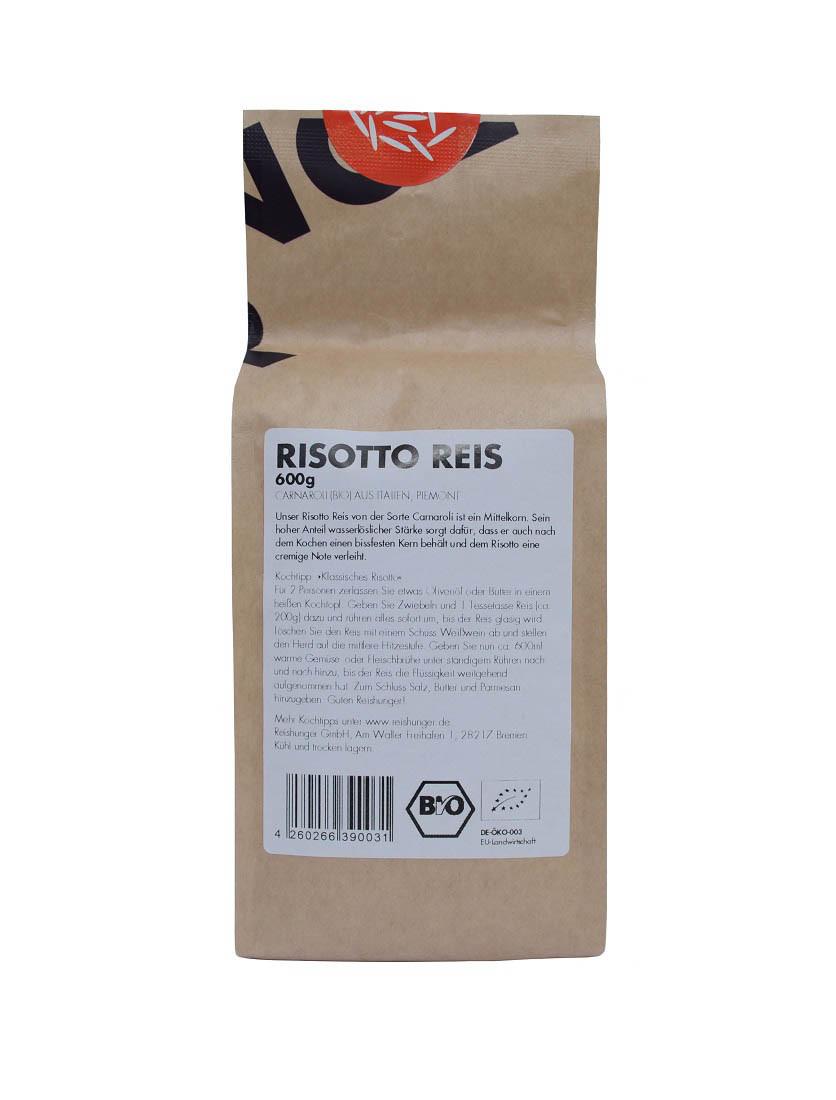 COOK and ENJOY Shop Risotto Carnali 600g Bio von Reishunger Etikett