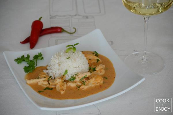 COOK and ENJOY Rezept Rotes Thai-Curry mit Kokossahne