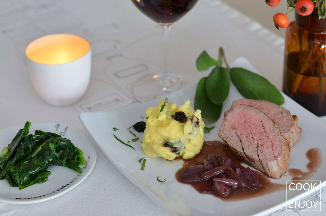 COOK and ENJOY Rezept Kalbsfilet mit Balsamico-Portweinreduktion