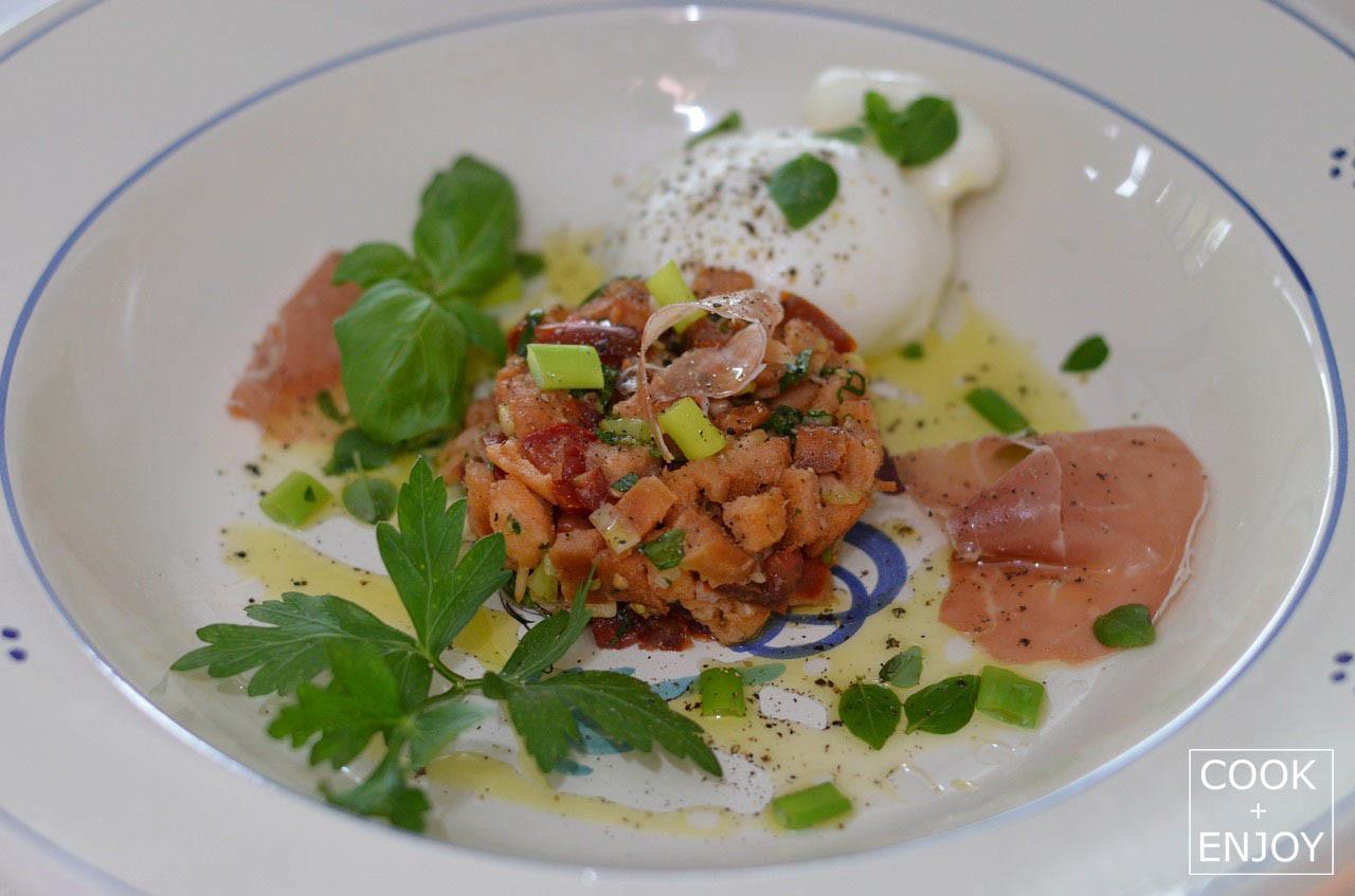 COOK and ENJOY Rezept Panzanella-Tomaten-Brot-Salat
