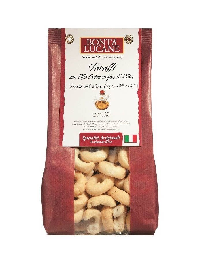 COOK and ENJOY Shop Bontà Lucane Taralli con Olio extra vergine 250g