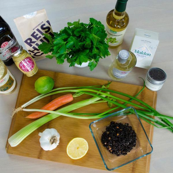 COOK and ENJOY Rezept Belugalinsensalat mit Stremellachs Zutaten