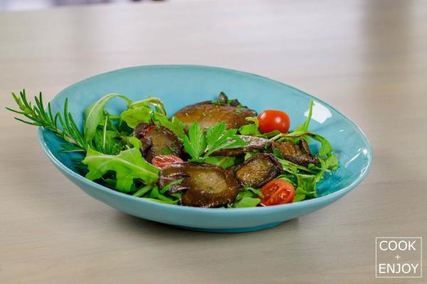 COOK and ENJOY Rezept Austernpilze auf Rucolasalat