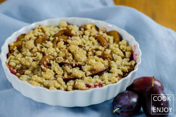 COOK and ENJOY Rezept Pflaumen-Crumble