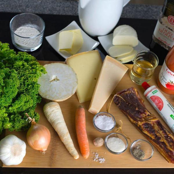 COOK+ENJOY Rezept Grünkohl Lasagne Zutaten