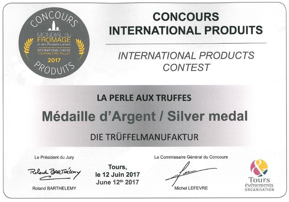 COOK and ENJOY Shop Trüffel-Perle Mondial du Fromage 2017 Silver medal