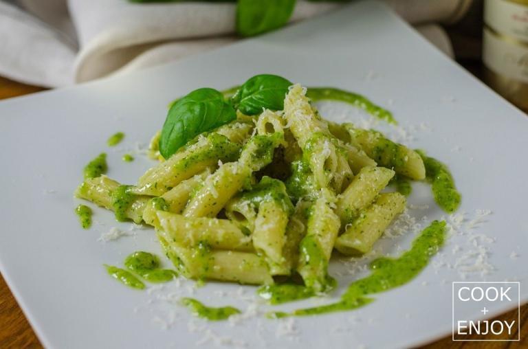 COOK+ENJOY Rezept Pasta mit Basilikum-Pesto