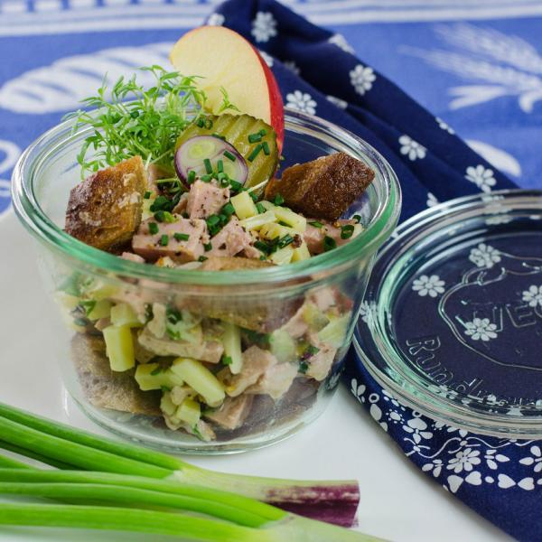 COOK and ENJOY Rezept Käse-Wurst-Salat