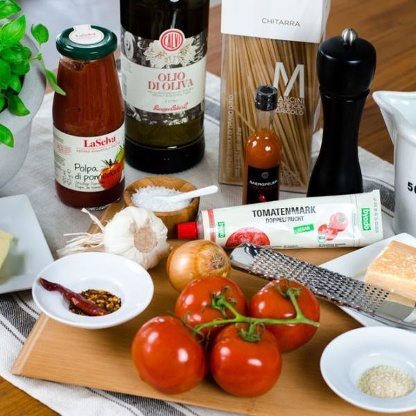 COOK and ENJOY Rezept Pasta mit Tomatensauce