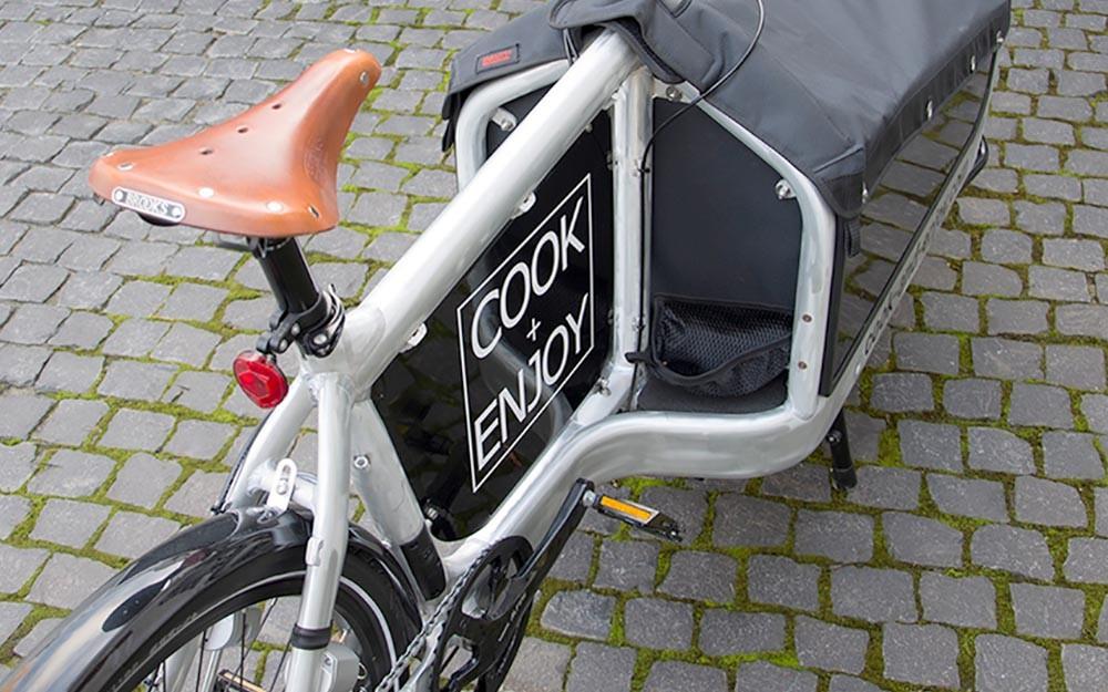 Unterwegs mit dem COOK+ENJOY Lastenfahrrad
