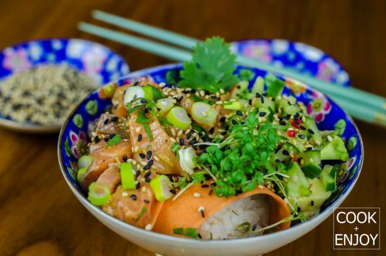 COOK and ENJOY Rezept Poke Bowl mit Wildlachs