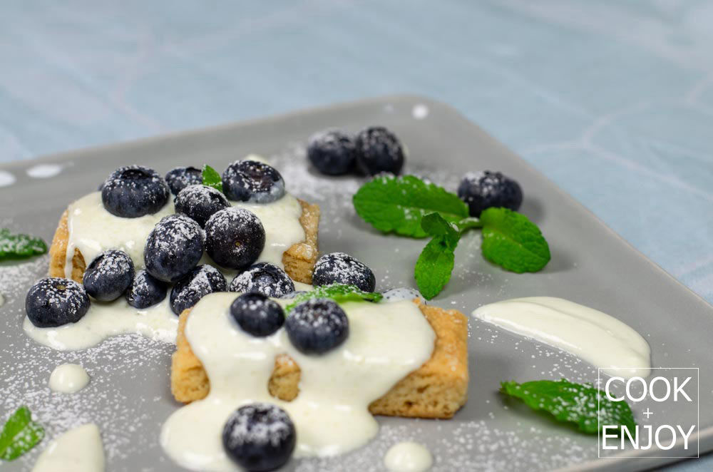 COOK and ENJOY Rezept Shortbread mit gezuckerter creme fraiche