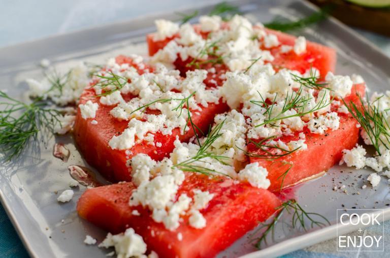 COOK and ENJOY Rezept Wassermelone mit Schafskäse