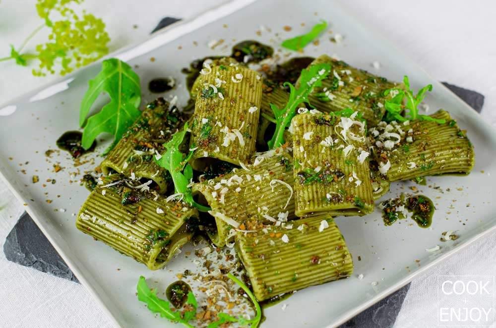 COOK and ENJOY Rezept Pasta mit Kürbiskernpesto