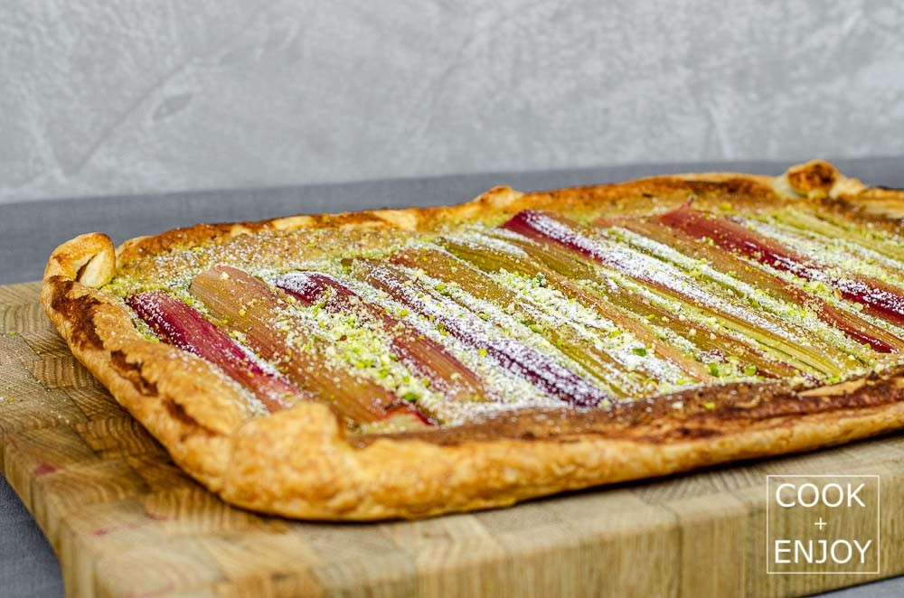 COOK and ENJOY Rezept Rhabarbertarte