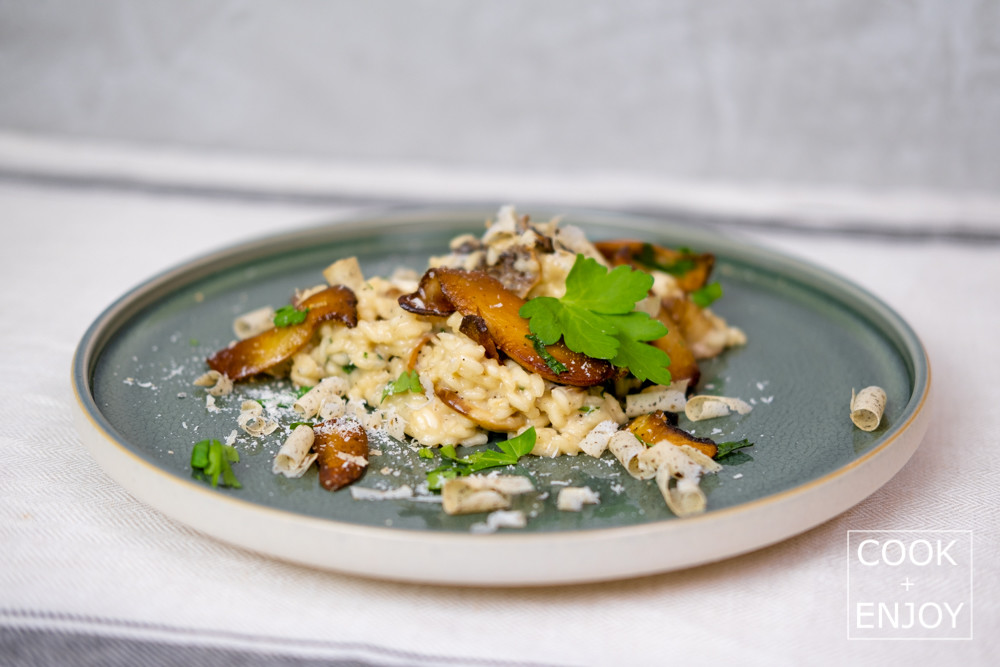 COOK and ENJOY Rezept Risotto mit frischen und getrockneten Pilzen