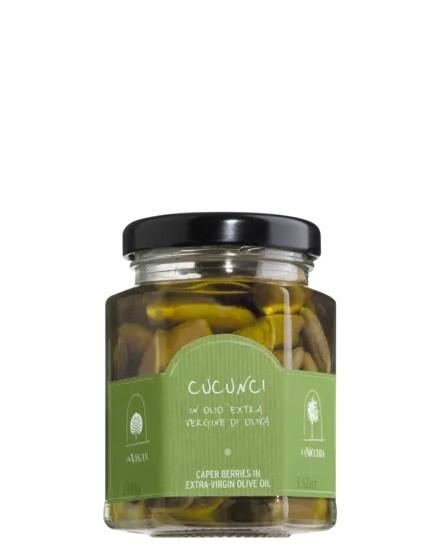 COOK and ENJOY Shop Kapernäpfel in nativem Olivenöl extra – Cucunci in olio extra vergine d'oliva 100g