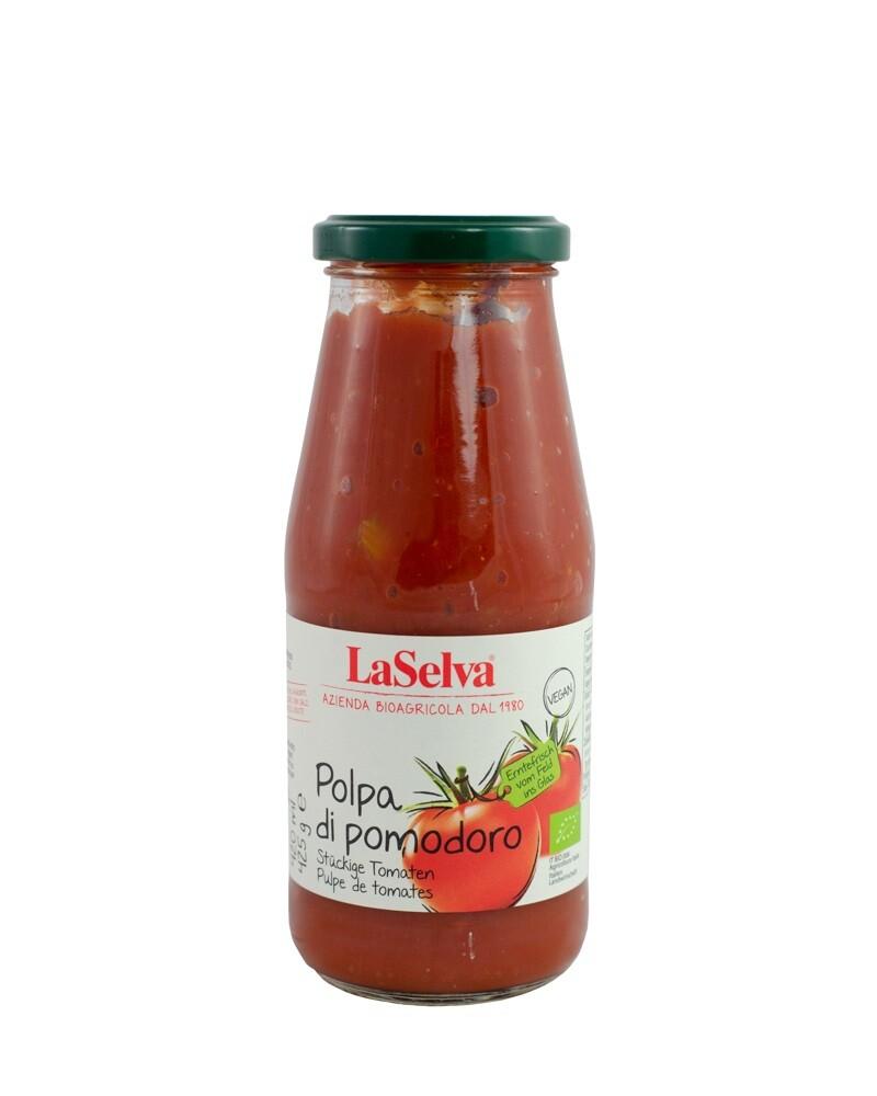 COOK and ENJOY Shop LaSelva Polpa Tomaten geschält in Stückchen 425g BIO