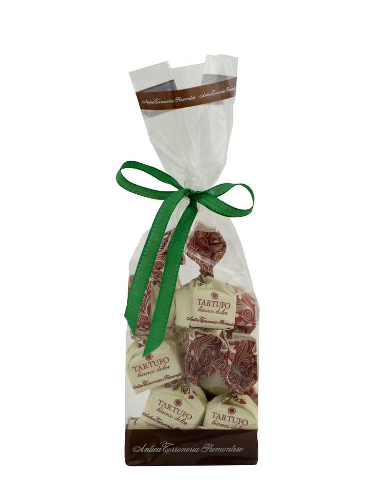 COOK and ENJOY Shop Tartufi dolci bianco Antica Torroneria Piemontese Schokoladentrüffel Beutel